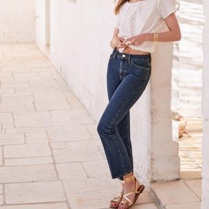 Sezane 1970 The Flared Crop Jeans